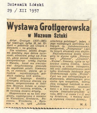Wystawa Grottgerowska w Muzeum Sztuki