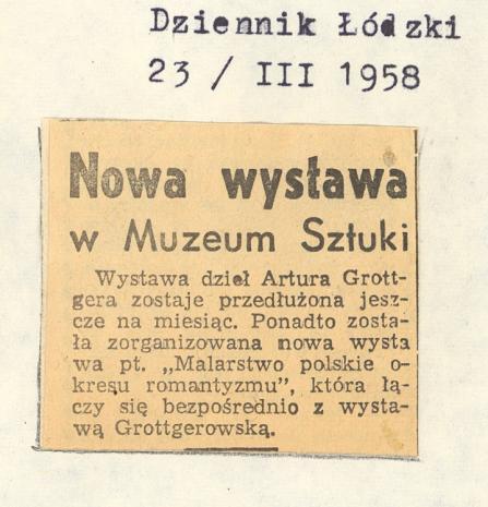 Nowa wystawa w Muzeum Sztuki