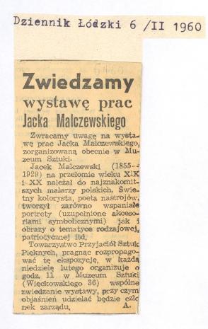 Zwiedzamy wystawę prac Jacka Malczewskiego