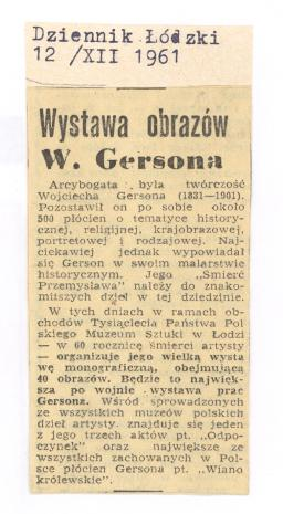 Wystawa obrazów W. Gersona