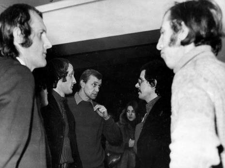 Od lewej Zbigniew Gostomski, inż. Jakub Wujek, Stanisław Balicki, x, Alberto Biasi, Zbigniew Warpechowski