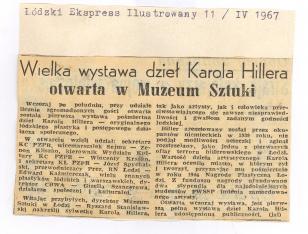Wielka wystawa dzieł Karola Hillera otwarta w Muzeum Sztuki