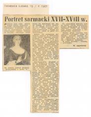 Portret sarmacki XVII-XVIII w.