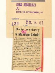 Dwie wystawy w Muzeum Sztuki