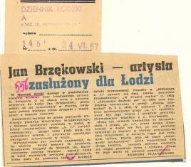 Jan Brzękowski - artysta zasłużony dla Łodzi