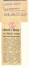 Minister L. Motyka na otwarciu wystawy malarstwa holenderskiego