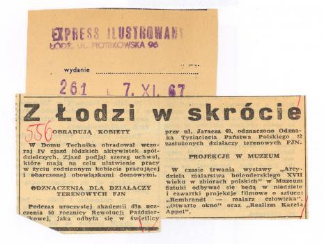 Z Łodzi ... Projekcje w Muzeum