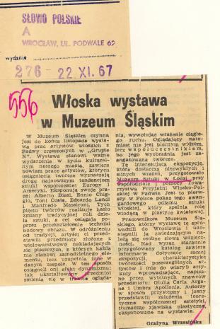 Włoska wystawa w Muzeum Śląskim