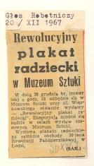 Rewolucyjny plakat radziecki w Muzeum Sztuki