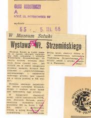 Wystawa Wł. Strzemińskiego