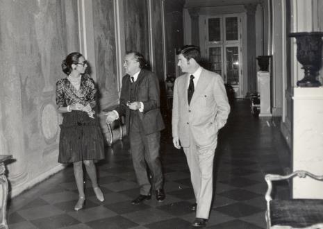 od lewej Daniéle Giraudy (kustosz Muzeum Sztuk Pięknych w Marsylii), R. Graetz, dyr. Duncan F. Cameron (Brooklyn Museum w Nowym Jorku)