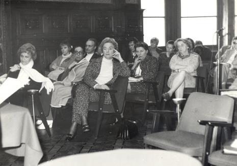 Uczestnicy kolokwium w sali odczytowej ms