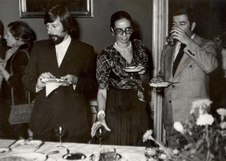 Od prawej dyr. Duncan Cameron (Brooklyn Museum w Nowym Jorku), Daniéle Giraudy (kustosz Muzeum Sztuk Pięknych w Marsylii), Norman Pegden (wicedyrektor ICOM)