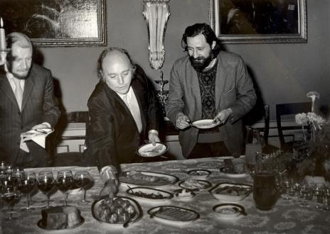 Od lewej Helmut R. Leppien, P. Gaudibert, Donato Ferrari