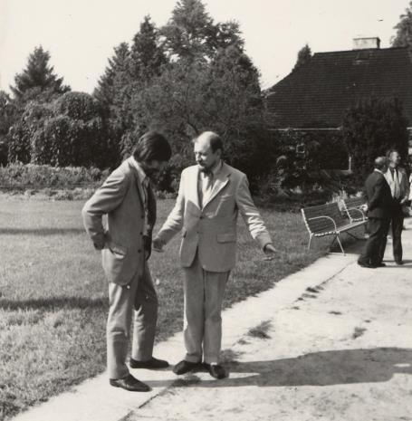 Norman Pegden (wicedyrektor ICOM), Helmut R. Leppien (Prezes Międzynarodowego Komitetu Muzeów i Zbiorów Sztuki Nowoczesnej - ICOM, Dyrektor TPSP w Hannowerze)