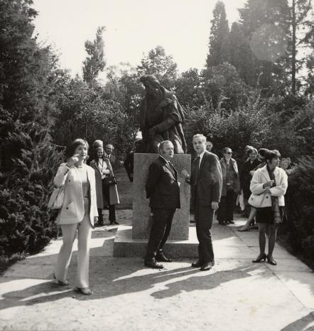 od lewej pani Selz, Jerzy Zanoziński (Muzeum Narodowe w Warszawie), K. Kaczmarski
