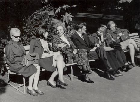 od lewej dyr. Eugenia Grigorijewskaja (Muzeum Puszkina w Moskwie), Azra Begic, Ayala Zacks, R. Graetz, Janina Ładnowska (Dział Sztuki Nowoczesnej)