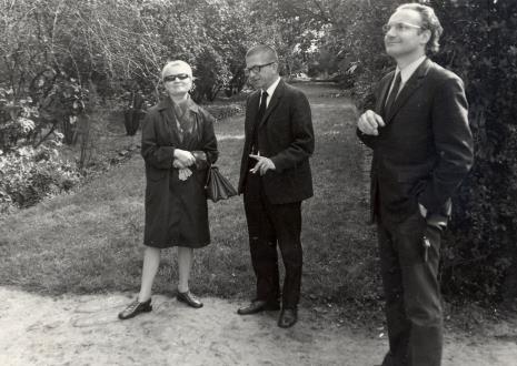 od lewej dyr. Eugenia Grigorijekwskaja, dyr. Ryszard Stanisławski, P. Beyer