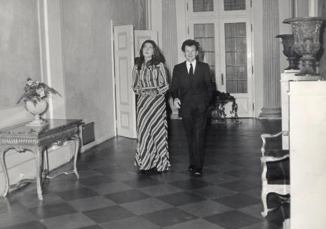 Barbara Wielgus (ms) i dyr. Jean Leymarie (Musee National d'Art Moderna w Paryżu)
