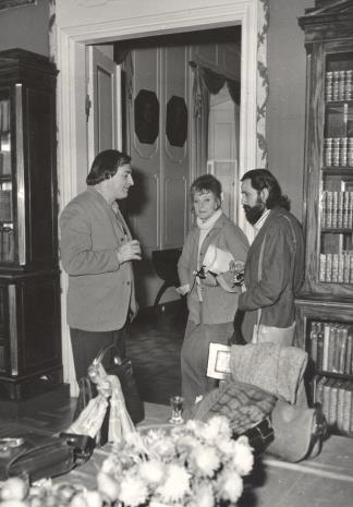 Od lewej Walter Zanini, K. Lindegren, Donato Ferrari