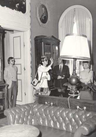 Od lewej K. Geldmacher, Daniéle Giraudy (kustosz Muzeum Sztuk Pięknych w Marsylii), W. Breyer, Mireille Latour