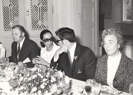 Od lewej Jerzy Zanoziński (Muzeum Narodowe w Warszawie), Daniéle Giraudy (kustosz Muzeum Sztuk Pięknych w Marsylii), dyr. Duncan Cameron (Brooklyn Museum w Nowym Jorku), Ayala Zacks