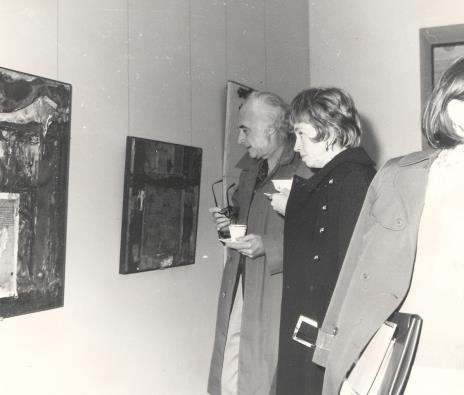 Prof. Peter Howard Selz (dyrektor Uniwersyteckiego Muzeum Sztuki w Berkeley) z żoną