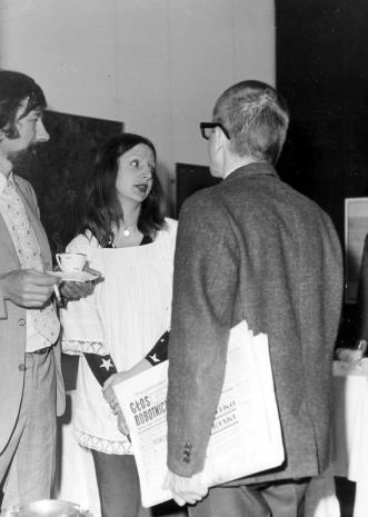 Od lewej Norman Pegden (wicedyrektor ICOM), Ewa Partum, dyr. Ryszard Stanisławski