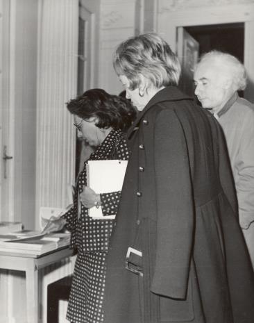 Od lewej G. Martin-Mery-Taurines i państwo Selz