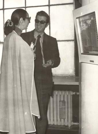 Daniéle Giraudy (kustosz Muzeum Sztuk Pięknych w Marsylii) i dyr. Duncan F. Cameron (Brooklyn Museum)