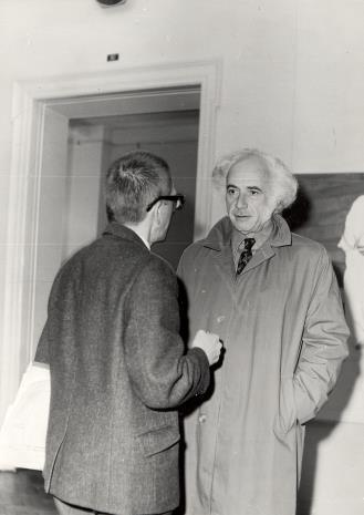 Dyr. Ryszard Stanisławski i prof. Peter Howard Selz (dyrektor Uniwersyteckiego Muzeum Sztuki w Berkeley)