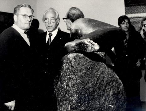 Od lewej Bolesław Utkin, T. Szadkowski, x