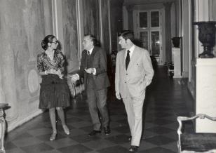 od lewej Daniéle Giraudy (kustosz Muzeum Sztuk Pięknych w Marsylii), R. Graetz, Duncan F. Cameron (dyr. Brooklyn Museum w Nowym Jorku)