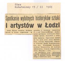 Spotkanie wybitnych historyków sztuki i artystów w Łodzi