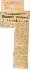 Otwarcie wystawy J. Styrsky'ego