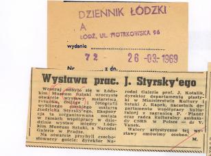 Wystawa prac J. Styrsky'ego