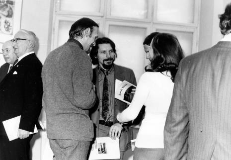 Od lewej Apoloniusz Zawilski, Zbigniew Ciekliński (Wojewódzki Konserwator Zabytków), Andrzej Łobodziński (bokiem), Jerzy Treliński