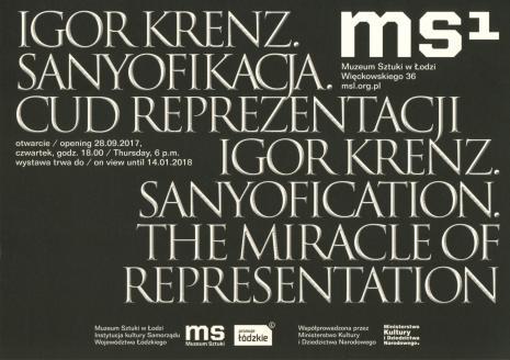 [Zaproszenie] Igor Krenz. Sanyofikacja. Cud reprezentacji./ Igor Krenz. Sanyofication. The miracle of representation.