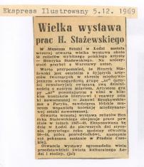 Wielka wystawa prac H. Stażewskiego