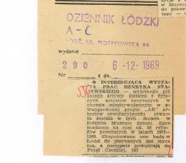 Interesująca wystawa prac Henryka Stażewskiego [...]