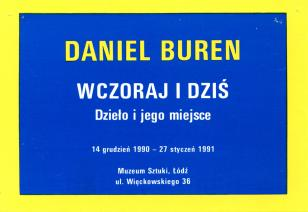 [Zaproszenie] Daniel Buren. Wczoraj i dziś. Dzieło i jego miejsce.