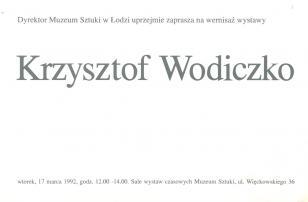 [Zaproszenie] Krzysztof Wodiczko [...]