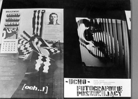 Wojciech Bruszewski, prace na wystawie WFF, 14.02.1973