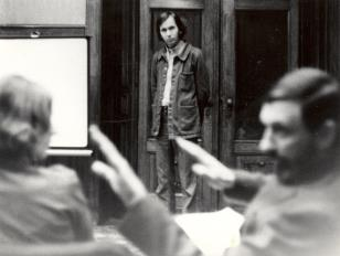 Bernard Venet w sali odczytowej ms
