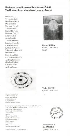 [Zaproszenie/folder] Rysunki artystów czeskich [...]