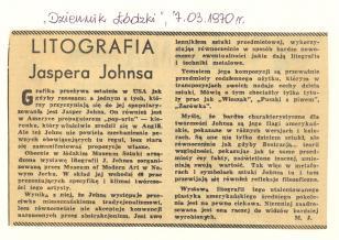 Litografia Jaspera Johnsa