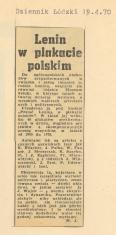 Lenin w plakacie polskim