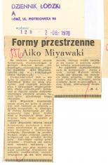 Formy przestrzenne Aiko Miyawaki