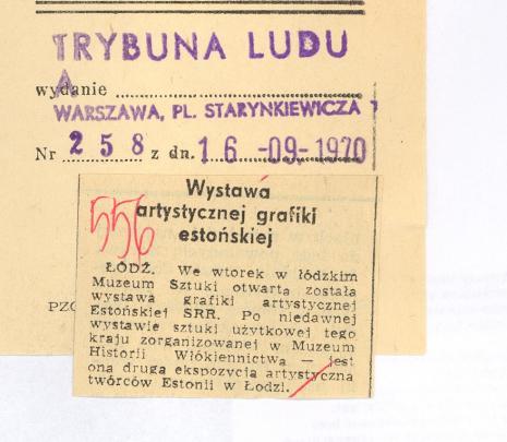 Wystawa artystycznej grafiki estońskiej