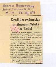Grafika estońska w Muzeum Sztuki w Łodzi